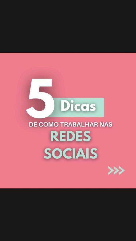 5 DICAS PARA TRABALHAR NAS REDES SOCIAIS