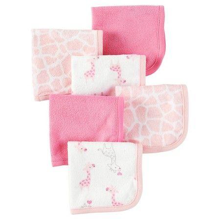 Carters Baby Boys 4 Pack Cotton Burp Cloths Pink Giraffe