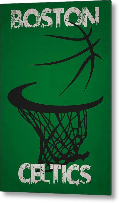 Celtics Metal Print featuring the photograph Boston Celtics Hoop by