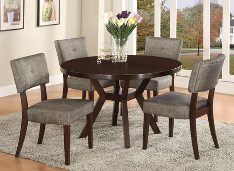 Crown Mark Kayla 5 Piece Dining Table Set Item Number 2610t 48