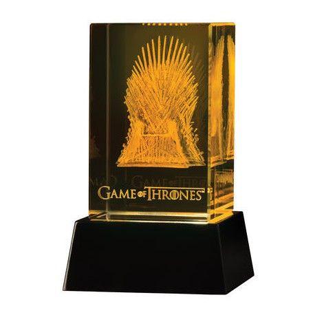 Décoration en verre 3 D Led Trône de fer Game of Thrones