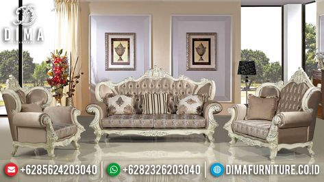 sofa ruang tamu mewah, sofa tamu mewah jepara, kursi tamu