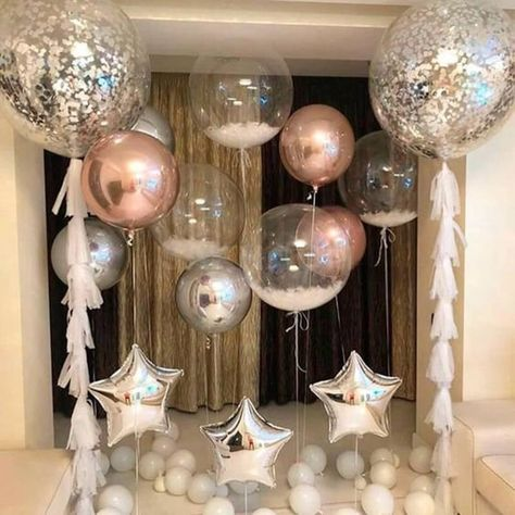 40th Birthday Balloons, 18th Birthday Party, Wedding Balloons, Diy Birthday, Classy Birthday Party, 30th Party, Birthday Backdrop, Surprise Birthday, Birthday Outfits