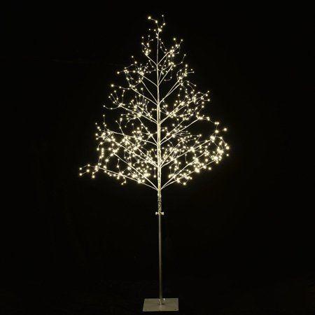 Lightshare 5 Ft Lighted Tree With Micro Led Angel Lights 570 Led Lights Silver Finish Walmart Com Tree Lighting Outdoor Christmas Lights Snowflake Lights