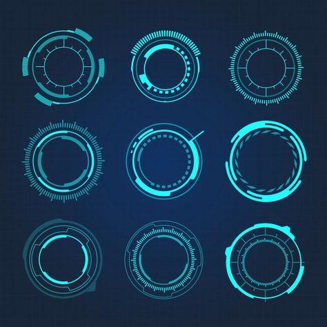 Hud Circular Hi-tech Futuristic User Interface Vector Illustration
