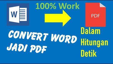 Cara Mengubah Word Ke Pdf Di Laptop Tanpa Aplikasi Offline Dan Gak Ber Laptop Aplikasi Microsoft