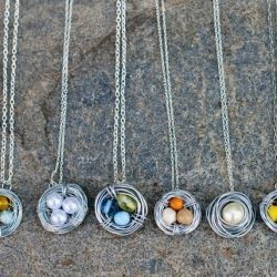 Learn how to make these beautiful bird nest necklaces in this simple DIY, perfect for mother's day.
