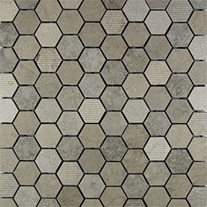 Mixmosaics Smoke Hex Remodeling Ideas Pinterest Master Bathrooms And Natural Stones