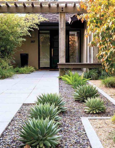 Aménagement jardin devant maison en 50 idées modernes | jardin ...