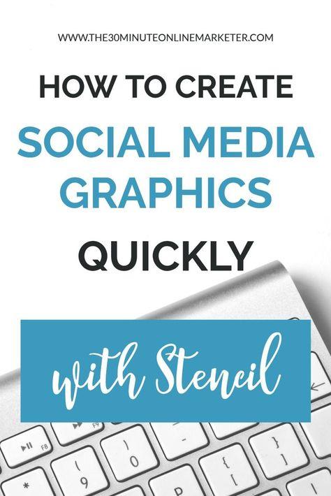 How to create social media graphics quickly and easily with Stencil #socialmediagraphics #socialmedia #socialmediatips
