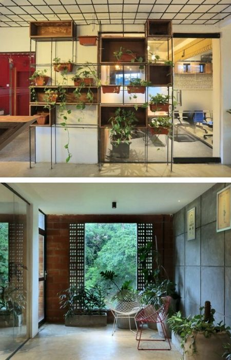The Breathing Office Workspace Sustainable Architecture Tropical Architecture French Architecture