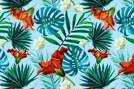 Image Result For Tropical Floral Pattern Desktop Wallpaper Jungle Flowers Tropical Pattern Tropical Flowers Pattern