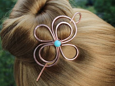 Copper Hair Clip Hair Jewelry Metal Hair Barrette with Punctuation Symbols for Writer Gift