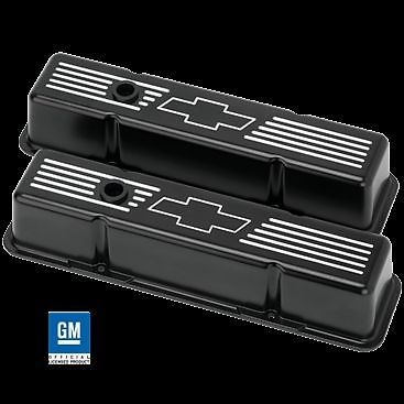 Valve Covers For Small Block Chevy 400 Engines Chrome with 400 Blue Emblems Tall