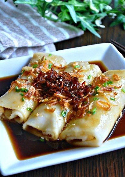 Hong Kong Style Chee Cheong Fun 港式猪肠粉 Eat What Tonight Recipe Kong Recipes Chinese Snacks Food