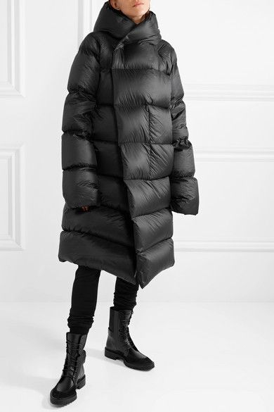 1967c8bab11 Rick Owens | Oversized hooded quilted shell down coat | NET-A-PORTER.COM