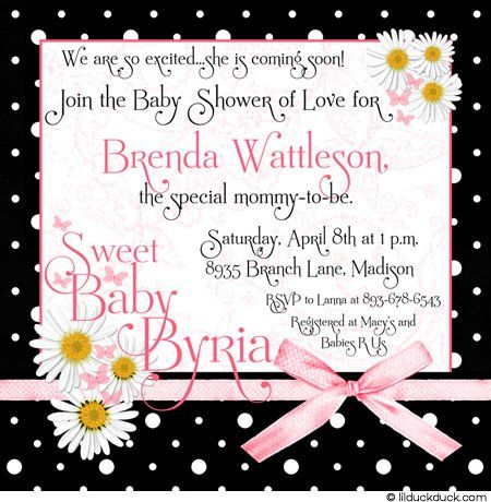Spring Daisies Baby Shower Invitation Fresh Y Decorated