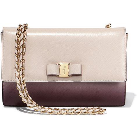 Salvatore Ferragamo Medium Ombre Vara Flap Bag ( 1,290) ❤ liked on Polyvore  featuring bags a4d6613b23