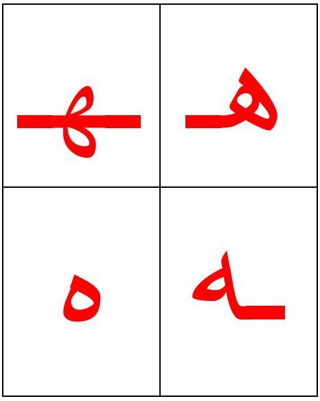 هـ حرف الهاء حروف اللغة العربية Cards