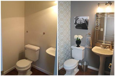 Diy Small Bathroom Remodel Wallpaper Bathroom In 2019