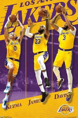 Los Angeles Lakers Team 19 Poster Art Com In 2020 Lakers Team Los Angeles Lakers Lakers