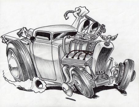 Hot Rod Drawing Mikeroyal Mike Royal Deviantart Dap
