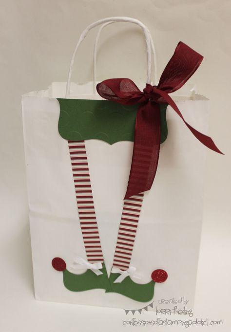 Elf Christmas Gift Bags.Pinterest