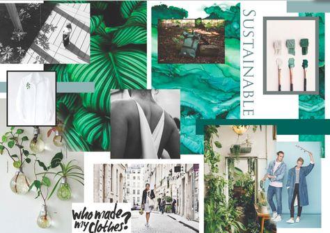 Ashleigh Clarke (c) Sustainable eco fashion crowdfunding Mood Board// GREEN