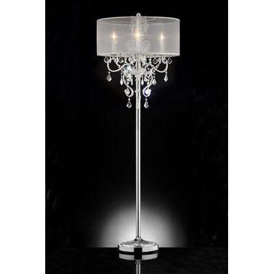 Rosalie Crystal 63 Candelabra Floor Lamp Crystal Floor Lamp Floor Lamp Crystal Floor