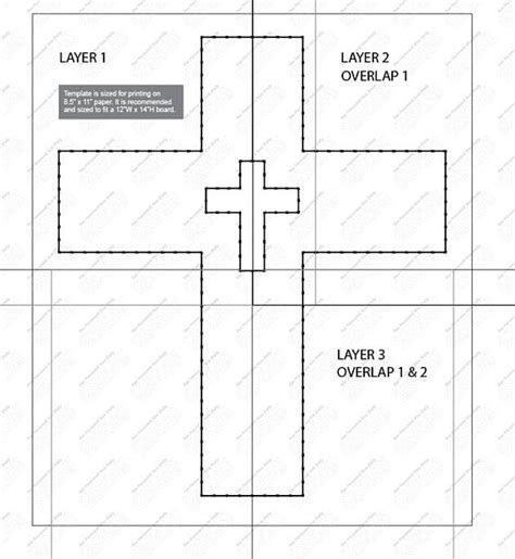 graphic relating to Free Printable Cross Template referred to as Pin upon String Artwork
