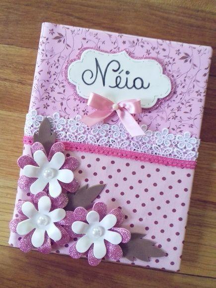 Caderno Decorado Nome Flores 96 Folhas Com Imagens Cadernos