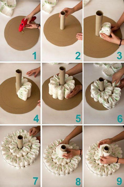 Diaper cake baby shoer present