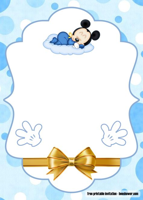 Get FREE Printable Mickey Mouse Baby Shower Invitations Templates