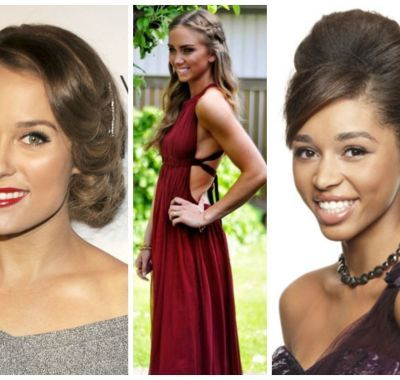Prom Hairstyles Halter Dresses