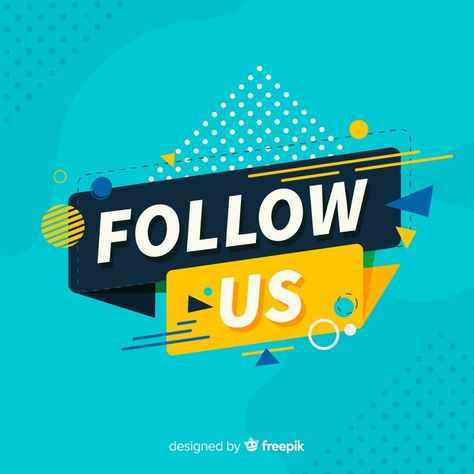 Download Flat Follow Us Background for free