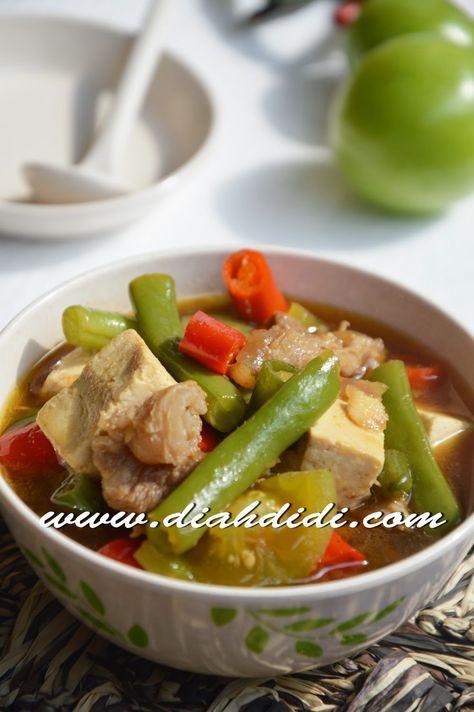 Asem Asem Buncis Resep Masakan Makanan Dan Minuman Masakan