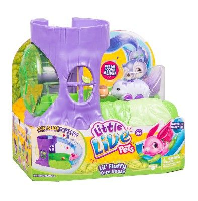 Little Live Pets Lil Fluffy Tree House Playset Berry Tail Lil Fluffy Live Little Live Pets Pets Animal Room