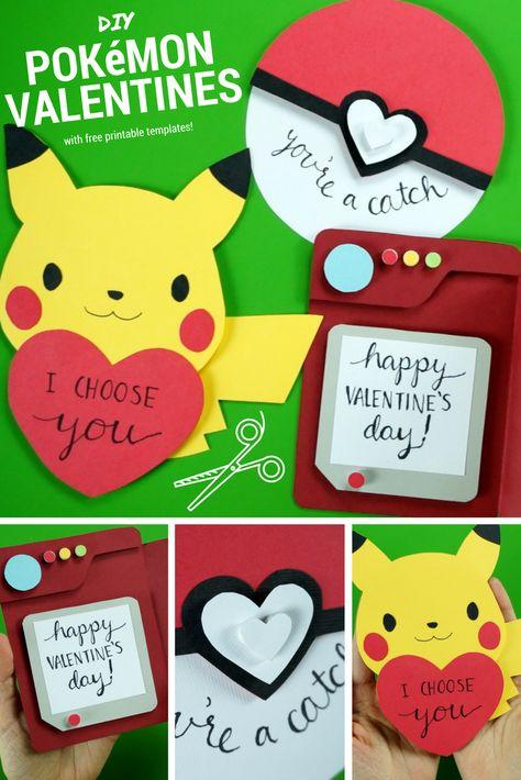 DIY Pokémon Valentine's Day Cards - How to make 3 Pokémon Valentines! | @laurenfairwx