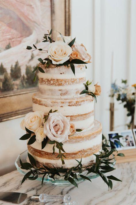 Spring Wedding Naked Wedding Cake Peach Pink and Cream Wedding Colors Wedding Cake Summer Wedding Cream Wedding Colors, Spring Wedding Colors, Fall Wedding, Rustic Wedding, Dream Wedding, Gown Wedding, Wedding Rings, Wedding Peach, Wedding Dresses