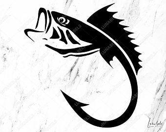 Fishing Svg Etsy Sg Fish Clipart Fishing Svg Fish Silhouette