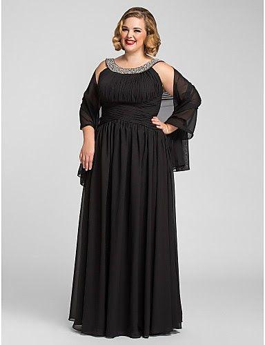 Vestidos largos de fiesta para mujeres gordas