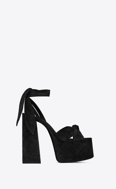 65106cb4aa7 FrenchEconomie™ Winter 2019 Footwear: Balenciaga YSL Yves Saint Laurent  PAIGE Platform sandals in suede