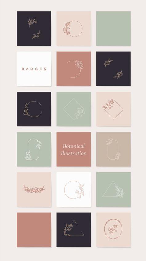 Free Vector   Botanical illustration elements set