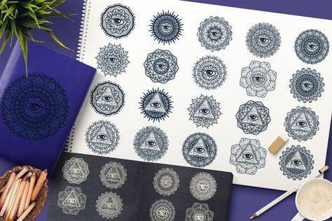 Mystical Mandala With Eye