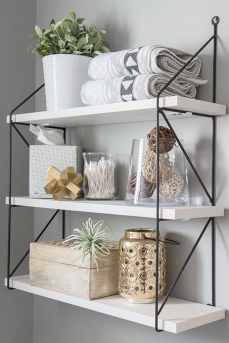 That Will Motivate You Inspirational Small Bathroom Shelf Ideas 21 In 2020 Small Bathroom Shelves Modern Powder Rooms Small Decor