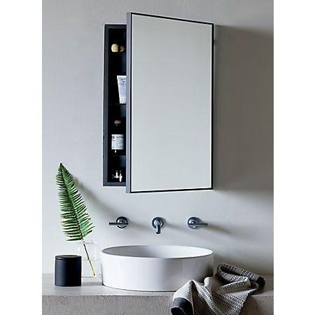 Infinity Black Medicine Cabinet 18 X27, Bathroom Mirror Cabinet