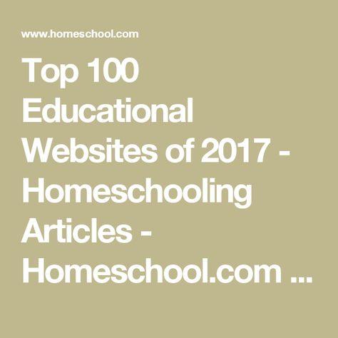 Top 100 Educational Websites of 2017