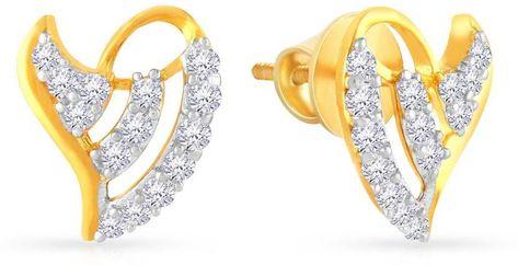 2999940c2 Malabar Gold and Diamonds MHAAAAADRJZX Yellow Gold 22kt Cubic Zirconia Stud  Earring
