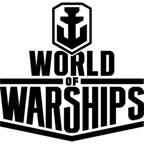 World Of Warships Logo Poster Template Vector Logo Warship