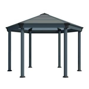 Backyard Discovery Sonora 12 Ft X 12 Ft Premium Cedar Gazebo With Smart Roof Steel 1804524com The Home Depot In 2020 Aluminum Gazebo Hexagon Gazebo Garden Gazebo